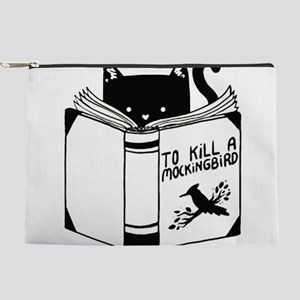 To Kill A Mockingbird Cat Reading A B Makeup Pouch