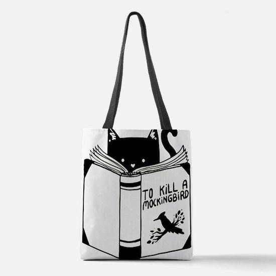 To Kill A Mockingbird Cat Readi Polyester Tote Bag