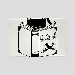 To Kill A Mockingbird Cat Reading A Book Magnets