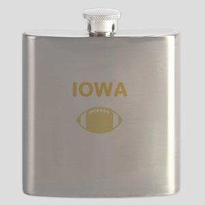 Hawkeye Football Flask