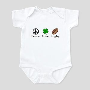 Peace Love Rugby Irish Infant Bodysuit