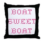 Boat Sweet Boat Cabin Pillow with Hearts