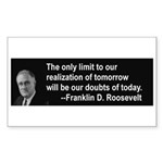 Inspiration from FDR Rectangle Sticker