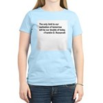 Inspiration from FDR Women's Pink T-Shirt