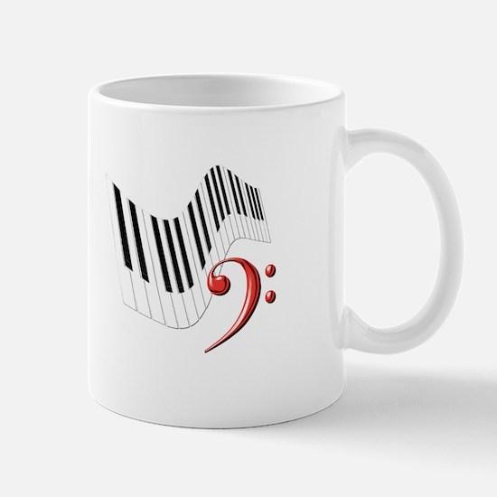 Keyboard & Treble Clef Red Mug