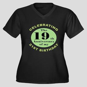 Funny 40th B Women's Plus Size Dark V-Neck T-Shirt
