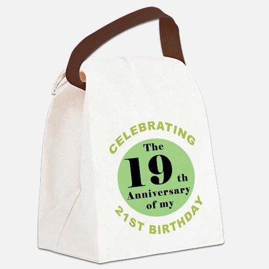 Funny 40th Birthday Canvas Lunch Bag