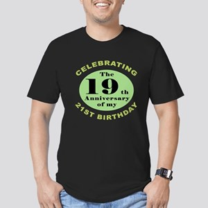 Funny 40th Birthday Men's Fitted T-Shirt (dark)