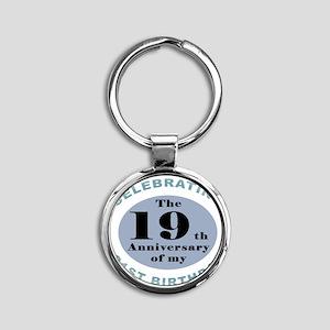 Funny 40th Birthday Round Keychain