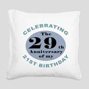 Funny 50th Birthday Square Canvas Pillow