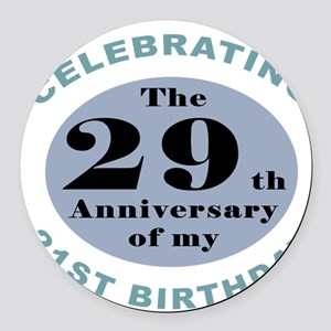 Funny 50th Birthday Round Car Magnet