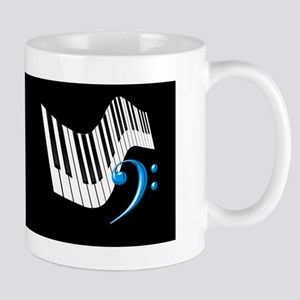 Keyboard & Treble Clef Blue Mug