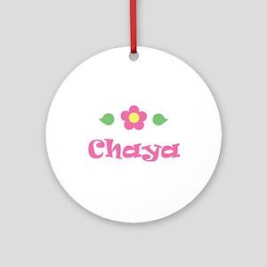 """Pink Daisy - """"Chaya"""" Ornament (Round)"""