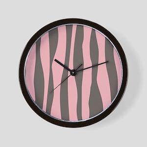 Pink Zebra Print Wall Clock