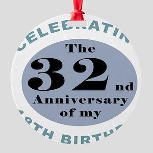 Funny 50th Birthday Round Ornament