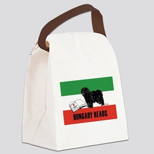 Hungary Reads Canvas Lunch Bag