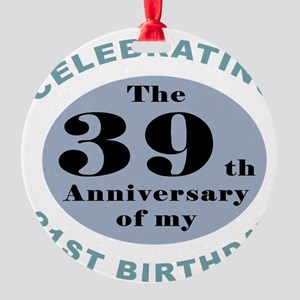 Funny 60th Birthday Round Ornament