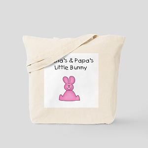 Nana's & Papa's Bunny (pink) Tote Bag