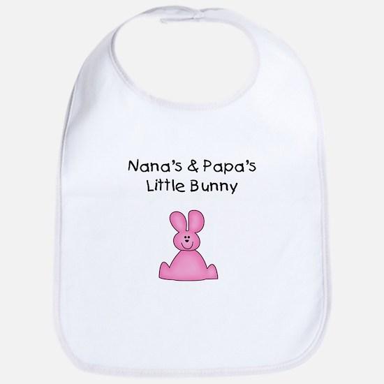 Nana's & Papa's Bunny (pink) Bib