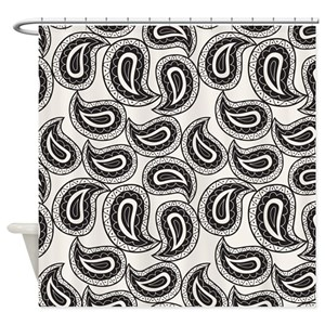 Black And White Paisley Shower Curtains