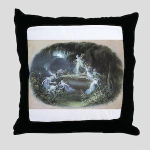 The Visit at Moonlight Throw Pillow