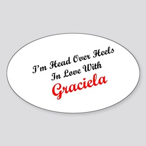 In Love with Graciela Oval Sticker