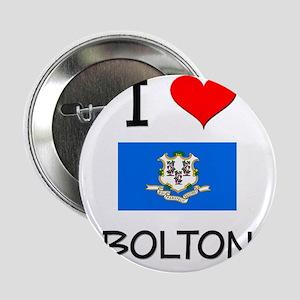 """I Love Bolton Connecticut 2.25"""" Button"""