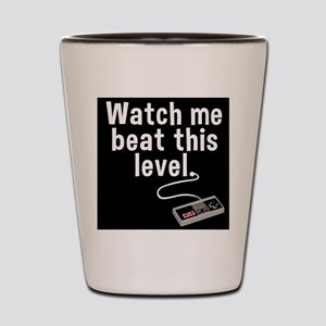 Level Up Tee Shot Glass
