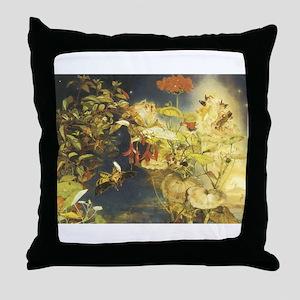 Elves and Fairies Throw Pillow