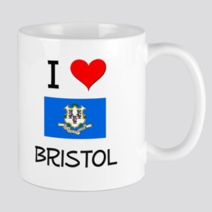 I Love Bristol Connecticut Mugs