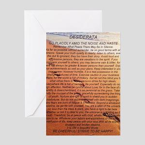 DESIDERATA Poem Footprints Greeting Card