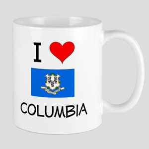 I Love Columbia Connecticut Mugs