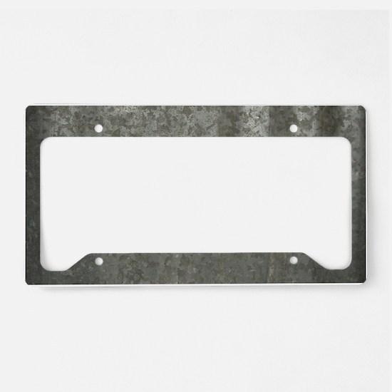 Corrugated Sheet Metal License Plate Holder