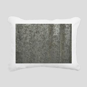 Corrugated Sheet Metal Rectangular Canvas Pillow