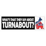Democrats on Top Bumper Sticker
