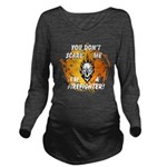 Firefighter Skull and Flames Long Sleeve Maternity