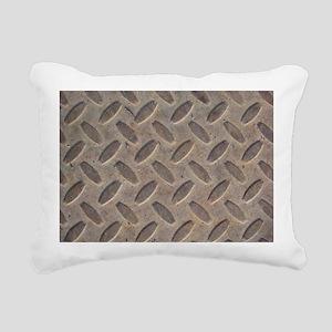 Steel Diamond Plate Rectangular Canvas Pillow