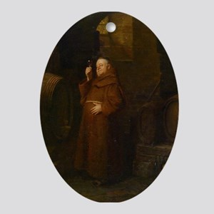 Drunk As A Monk Ornament (Oval)