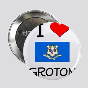 "I Love Groton Connecticut 2.25"" Button"