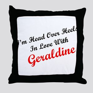 In Love with Geraldine Throw Pillow