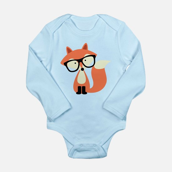 Hipster Red Fox Onesie Romper Suit