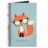 Hipster fox Journals & Spiral Notebooks