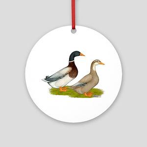 Saxony Ducks Ornament (Round)