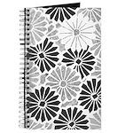 Art Deco Chrysanthemum Grey-Blk Journal