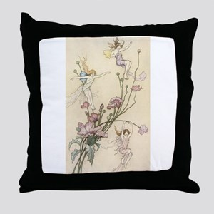 Mad with Joy Throw Pillow