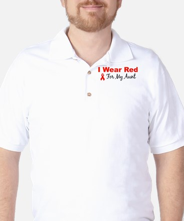 I Wear Red For My Aunt Golf Shirt