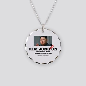 KIM JOHN FAT UN - DPRK Necklace Circle Charm