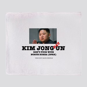 KIM JOHN FAT UN - DPRK Throw Blanket