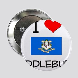 """I Love Middlebury Connecticut 2.25"""" Button"""
