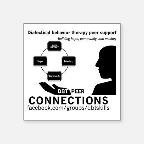 "DBT Peer Connections Square Sticker 3"" x 3"""